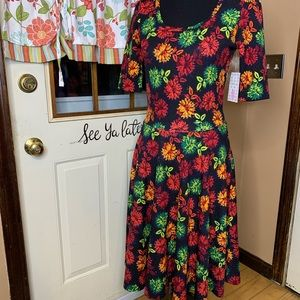 LuLaRoe Nicole dress floral print size medium NWT